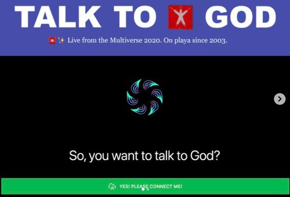 Burning Man Talk to God Burning Man virtuel 2020, le Multiverse : j'y étais!